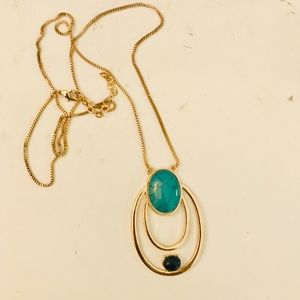 H&M Gold & Turquoise Necklace